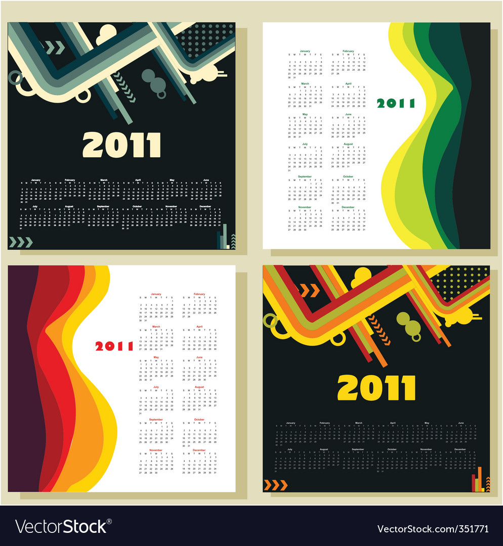 Calendar template vector | Price: 1 Credit (USD $1)