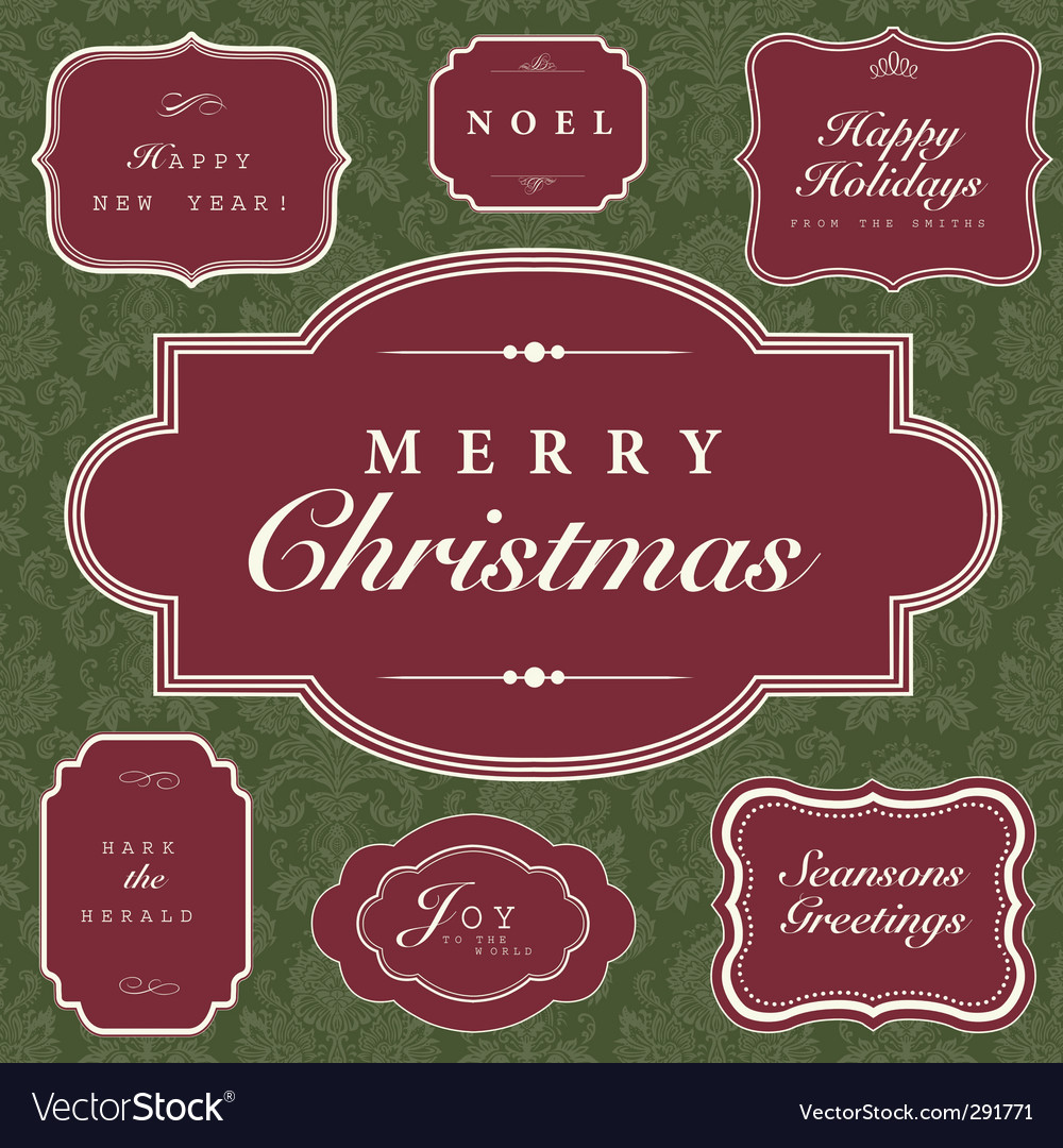 Christmas frame and ornaments vector | Price: 1 Credit (USD $1)