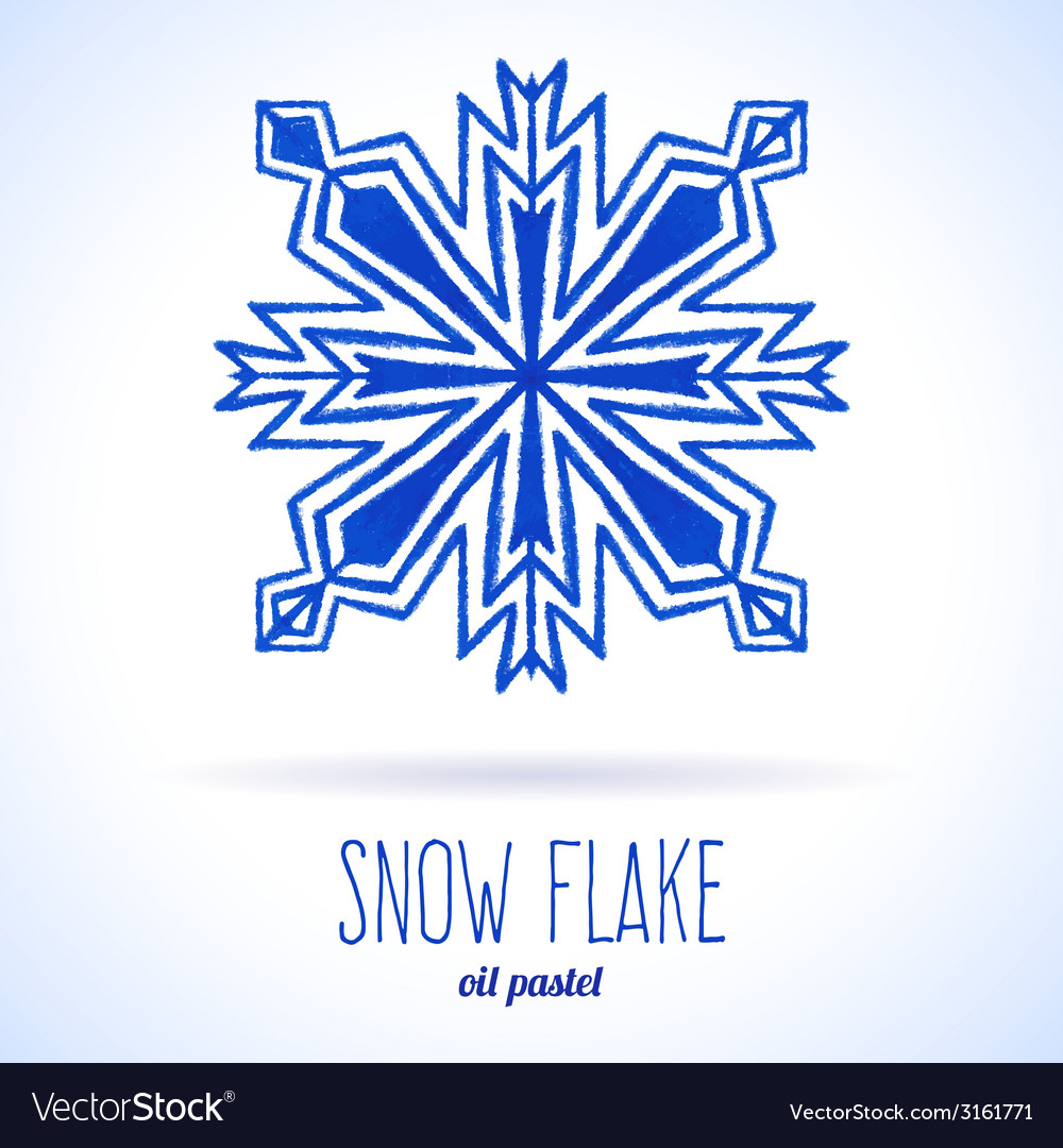 Doodle snow flake vector | Price: 1 Credit (USD $1)