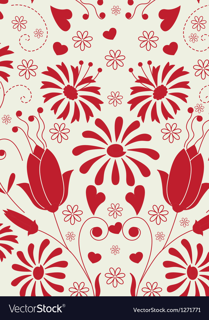 Floral love pattern vector