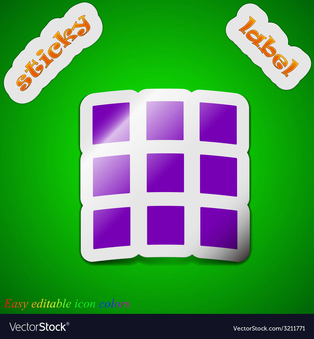 List setting icon sign symbol chic colored sticky vector   Price: 1 Credit (USD $1)