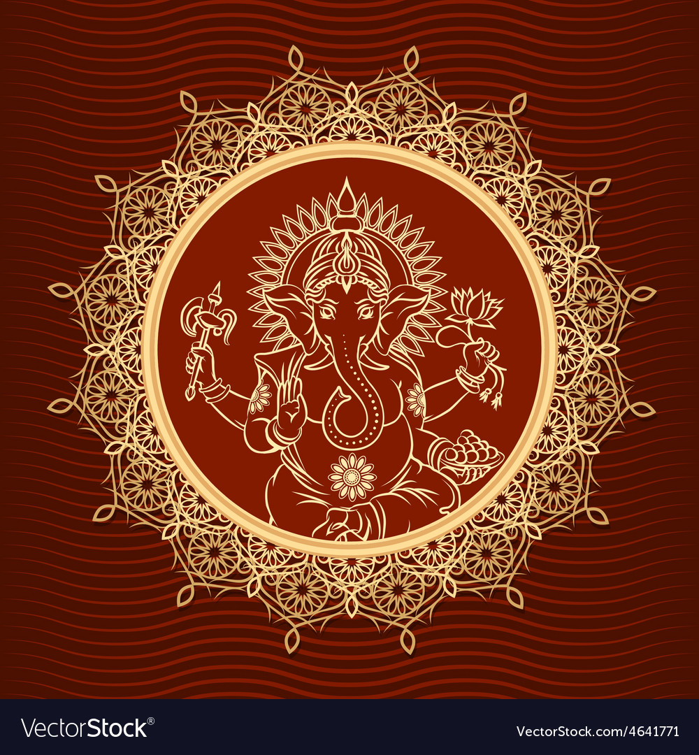 Lord ganesha sunburst vector | Price: 1 Credit (USD $1)