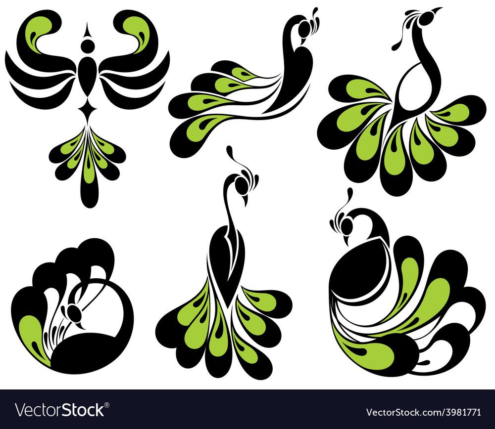Peacock birds vector | Price: 1 Credit (USD $1)