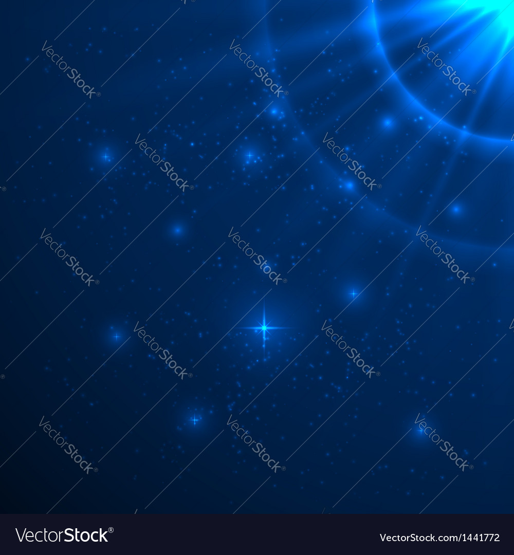 Blue shining background vector | Price: 1 Credit (USD $1)