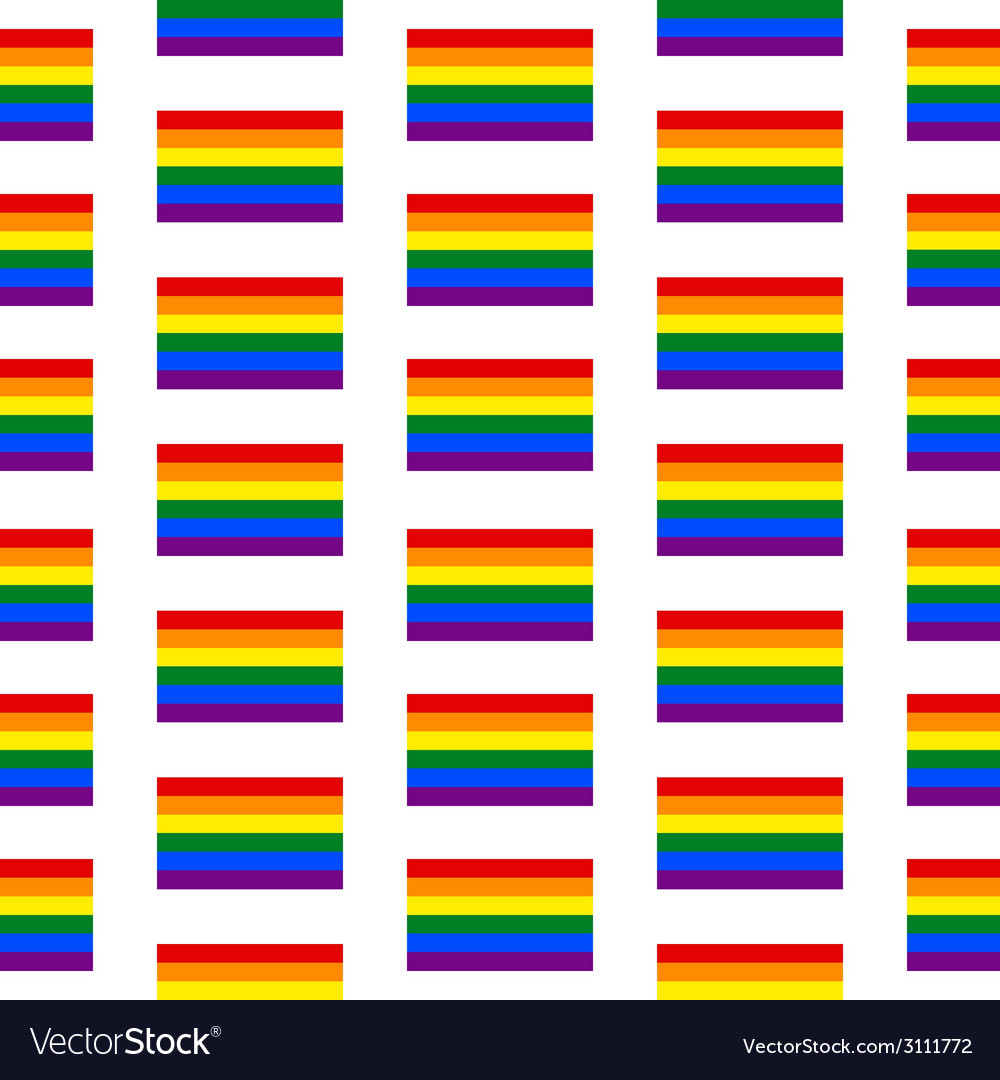 Gay flag seamless pattern vector | Price: 1 Credit (USD $1)