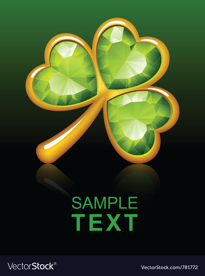 Jewelry shamrock 2 vector | Price: 1 Credit (USD $1)