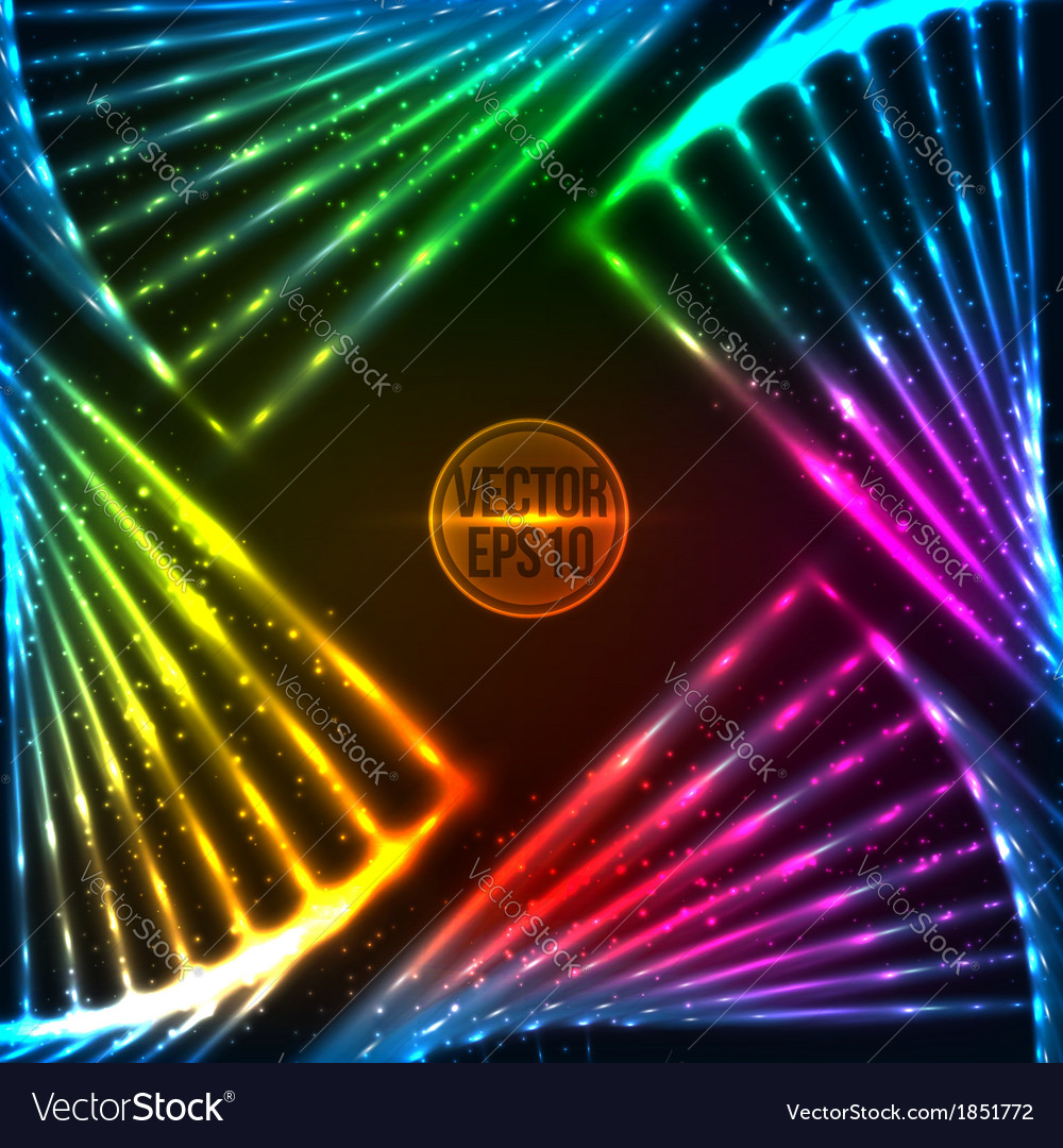 Rainbow neon abstract frame vector | Price: 1 Credit (USD $1)
