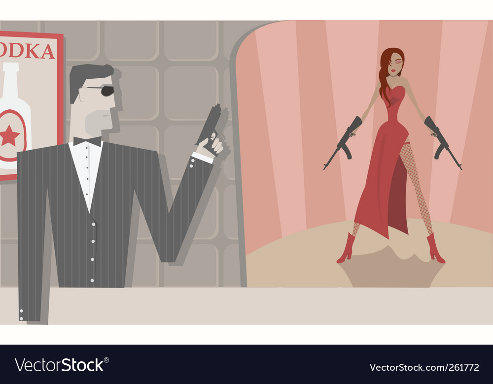 Secret agents vector | Price: 1 Credit (USD $1)