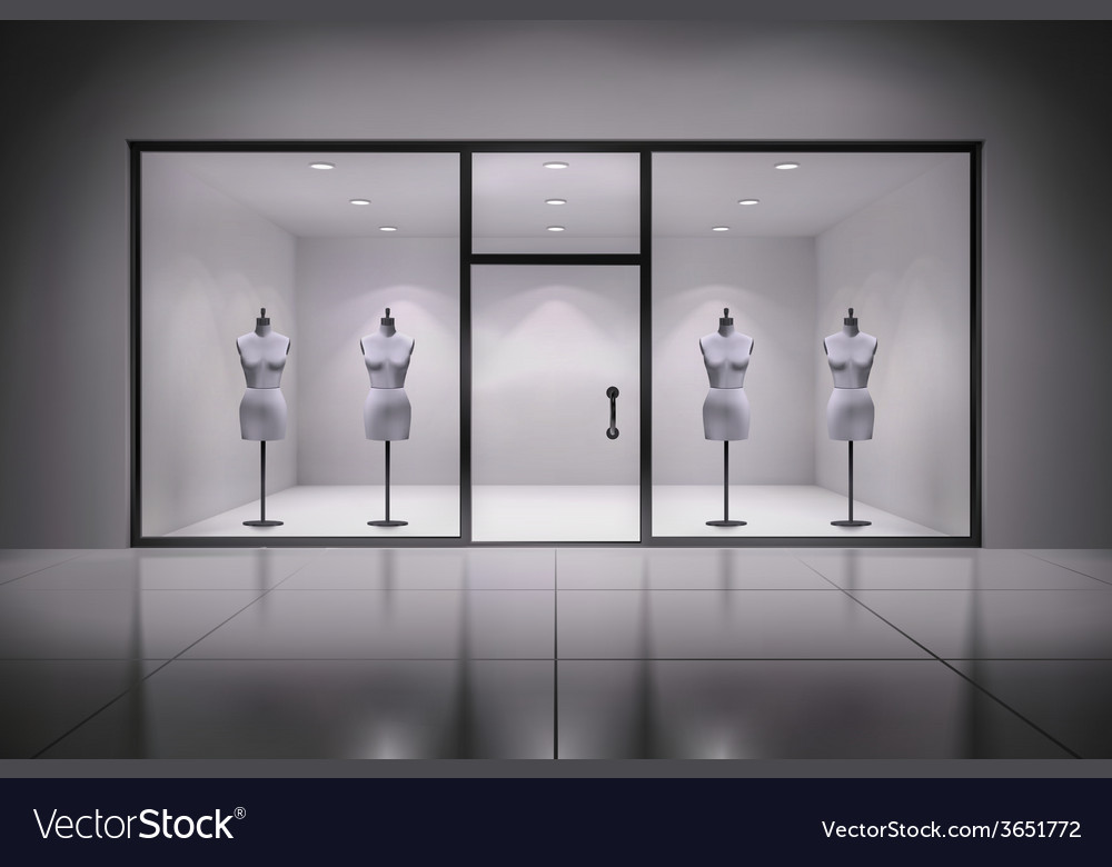 Store interior with mannequins vector | Price: 1 Credit (USD $1)
