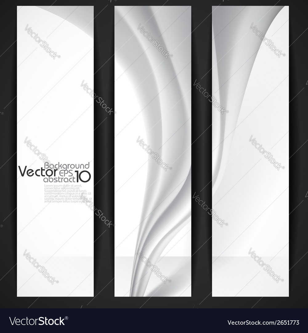 Abstract gray wavy background vector | Price: 1 Credit (USD $1)