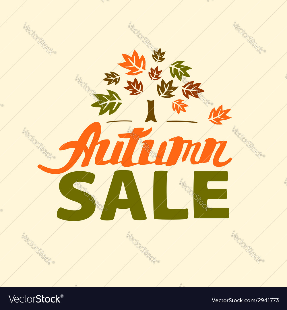 Autumn sale - hand drawn lettering vector | Price: 1 Credit (USD $1)