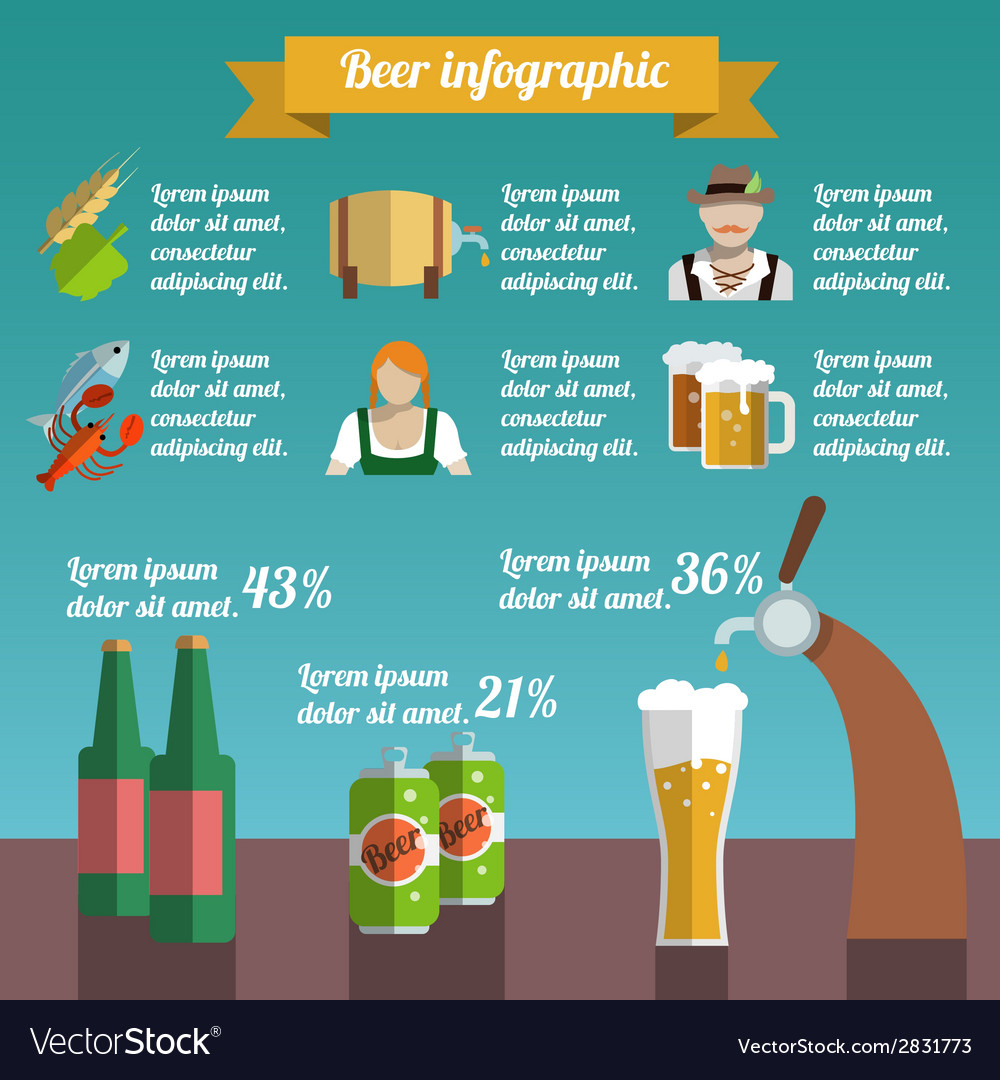 Beer infographic set vector | Price: 1 Credit (USD $1)