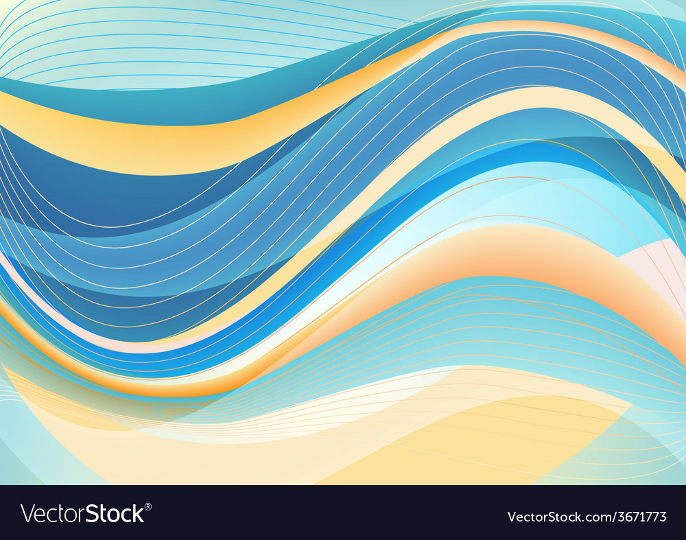 Blue and white waves package background vector | Price: 1 Credit (USD $1)