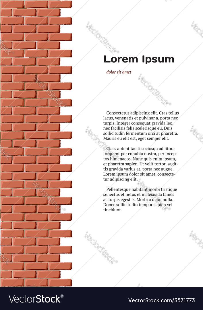 Brick wall identity vector   Price: 1 Credit (USD $1)