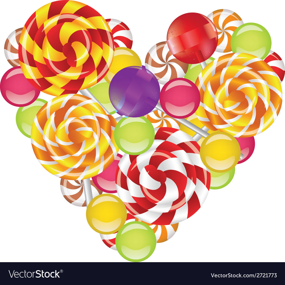Candies in shape of heart vector | Price: 1 Credit (USD $1)