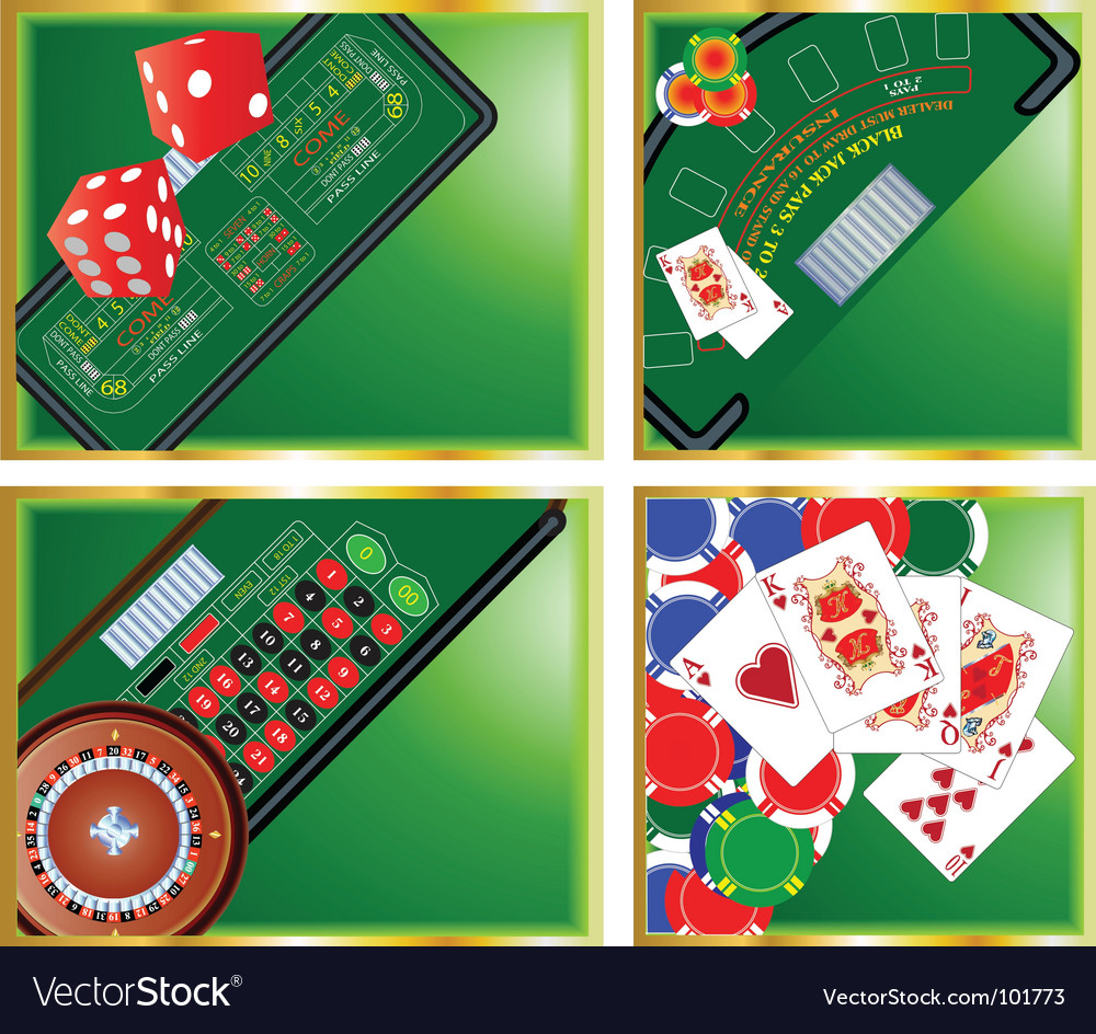 Casino corners vector | Price: 1 Credit (USD $1)