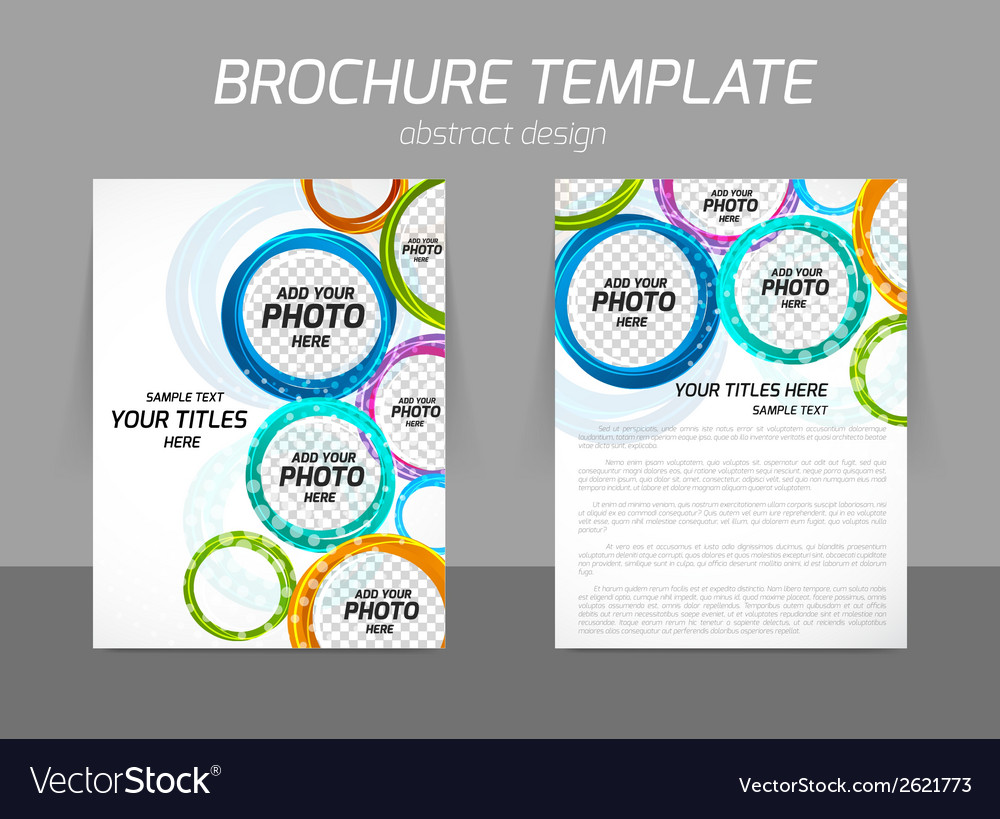 Colorful circles brochure vector | Price: 1 Credit (USD $1)