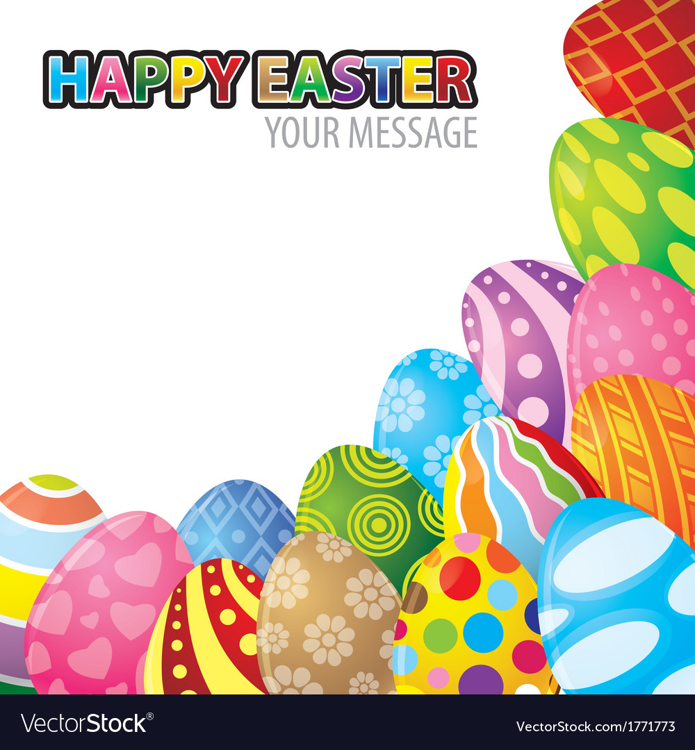 Easter egg background vector   Price: 1 Credit (USD $1)