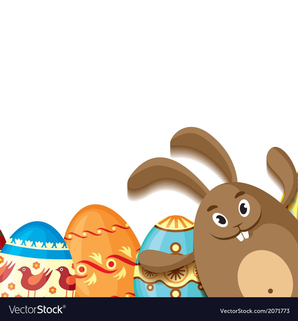 Eggs and hare vector | Price: 1 Credit (USD $1)