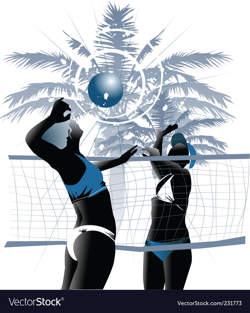 Girl volleyball vector | Price: 1 Credit (USD $1)