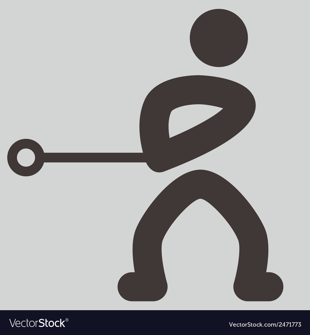 Hammer throw icon vector | Price: 1 Credit (USD $1)
