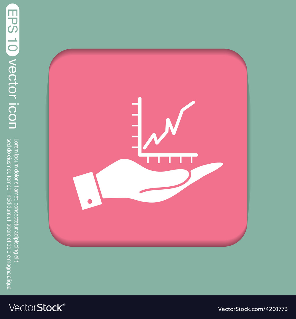 Hand holding a chart diagram figure business icon vector | Price: 1 Credit (USD $1)