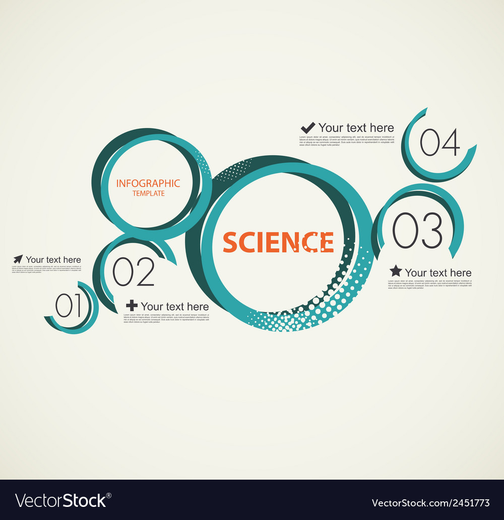 Science infographic with circles vector | Price: 1 Credit (USD $1)