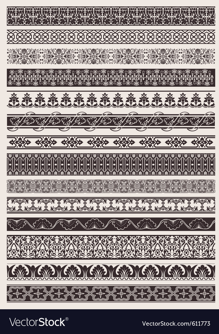 Seamless ornate border vector | Price: 1 Credit (USD $1)