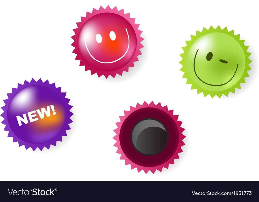 Smiling and news icons of magnets vector | Price: 1 Credit (USD $1)