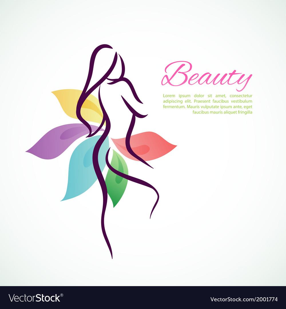 Beautiful woman vector | Price: 1 Credit (USD $1)