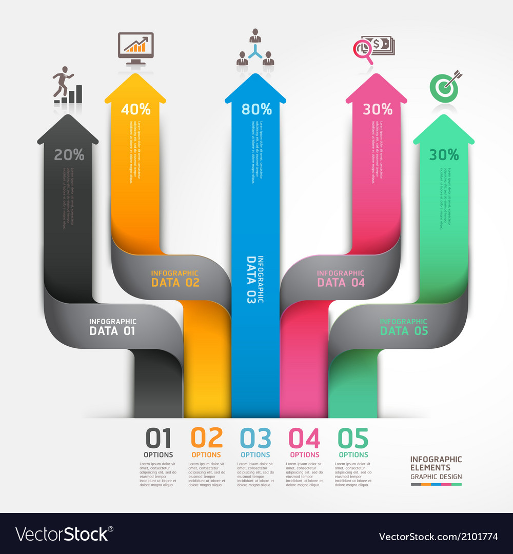 Business arrow infographics diagram origami style vector   Price: 1 Credit (USD $1)