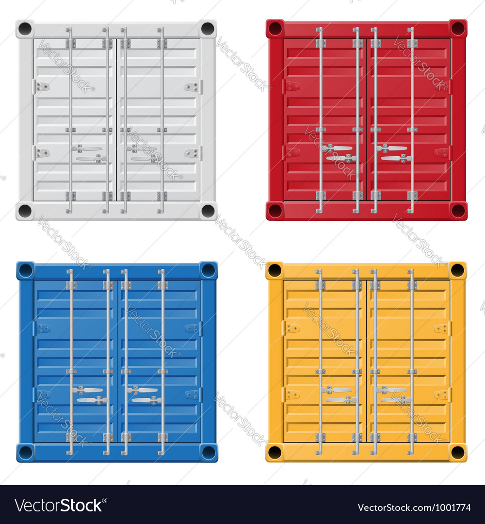 Cargo container 01 vector | Price: 1 Credit (USD $1)