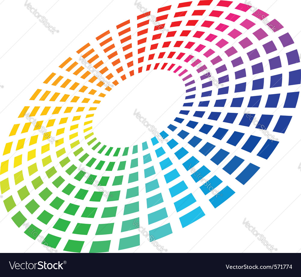 Color equalizer circle vector | Price: 1 Credit (USD $1)