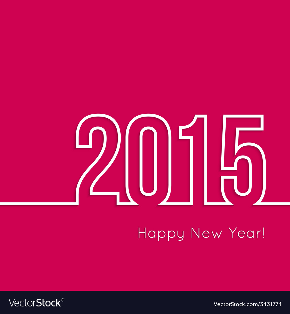 Creative happy new year vector | Price: 1 Credit (USD $1)