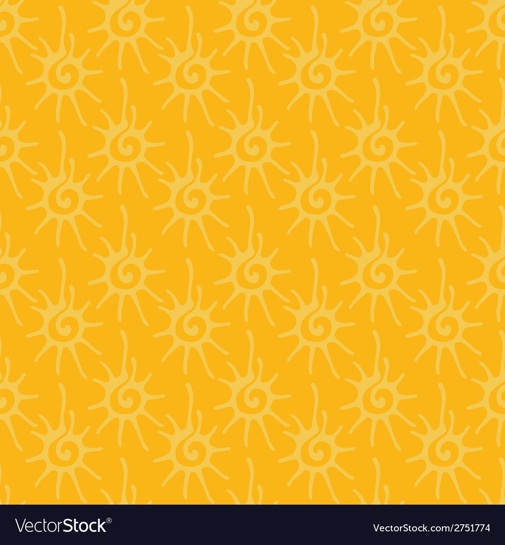 Seamless pattern with decorative stylized sun vector | Price: 1 Credit (USD $1)