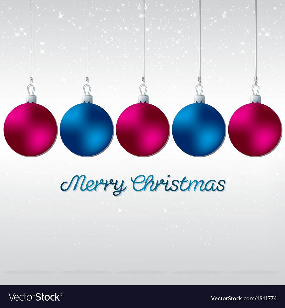 Simple elegant bauble christmas card in format vector   Price: 1 Credit (USD $1)