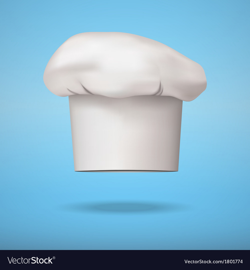 White chef cap toque vector   Price: 1 Credit (USD $1)