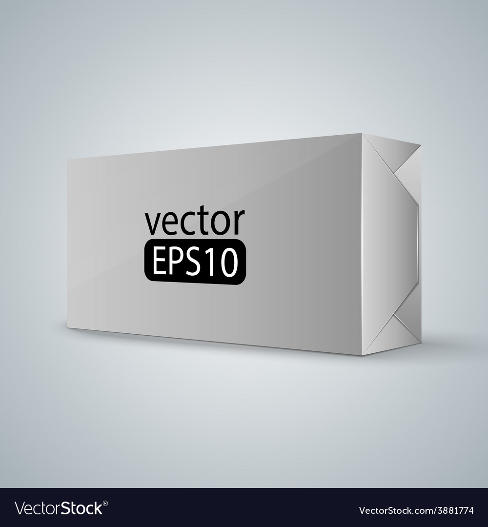White wrap box package vector | Price: 1 Credit (USD $1)