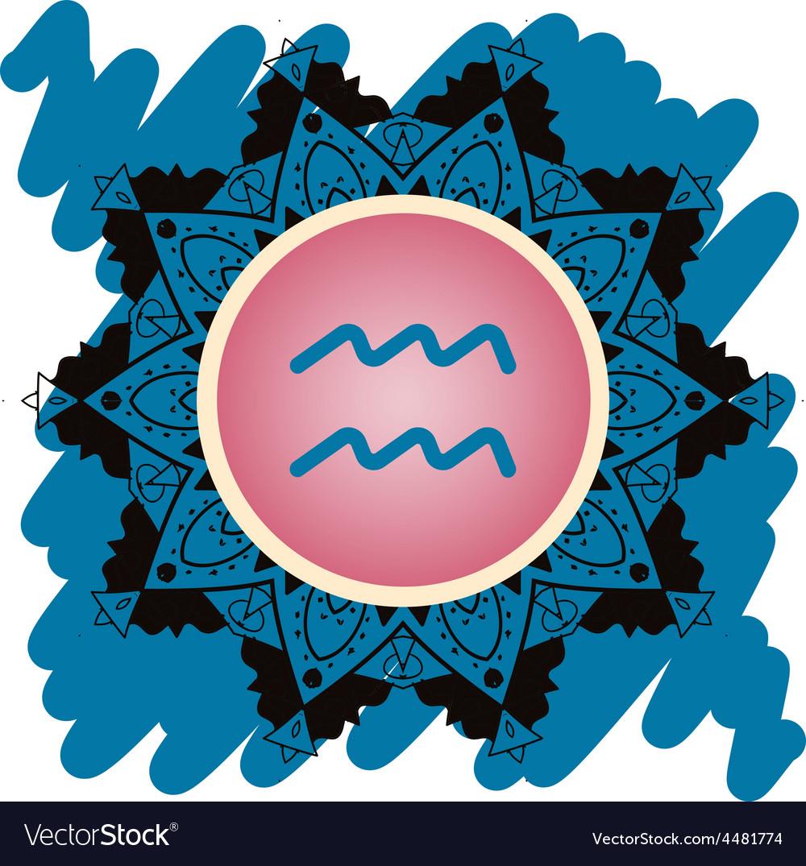 Zodiac sign water bearer aquarius vector | Price: 1 Credit (USD $1)