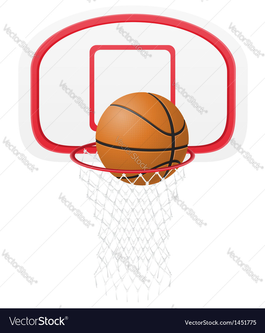 Basketball basket vector | Price: 1 Credit (USD $1)