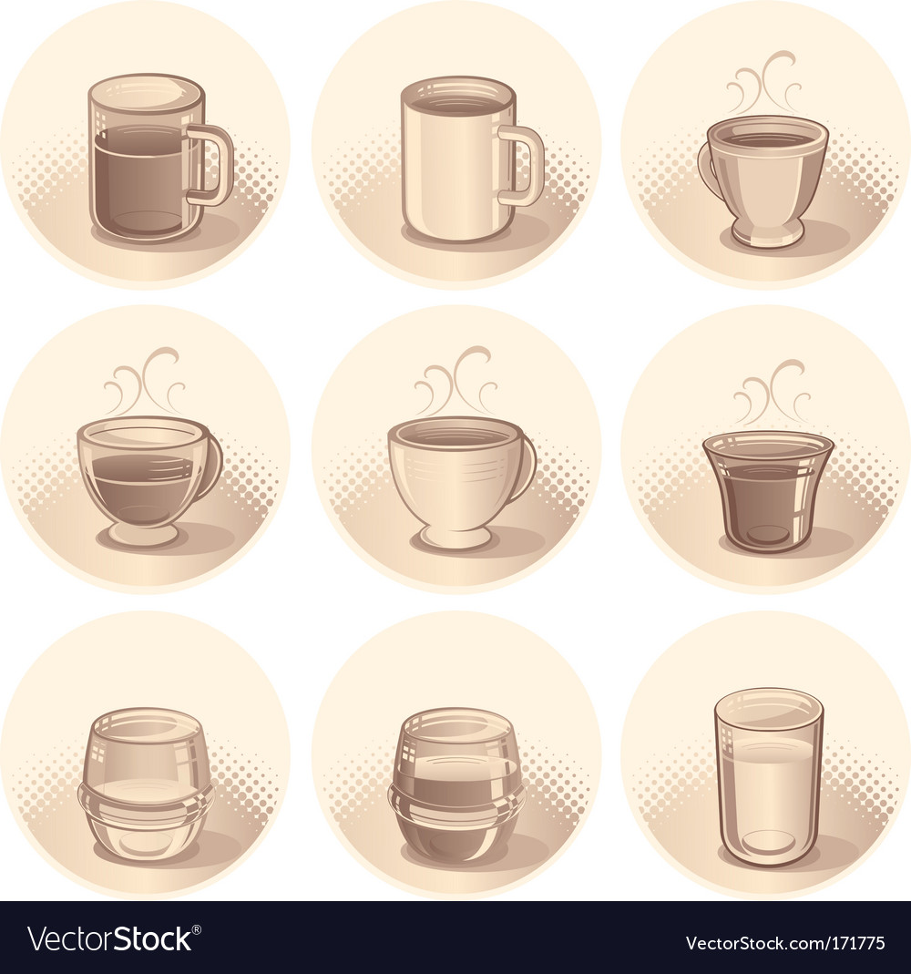 Cups and glasses vector | Price: 1 Credit (USD $1)