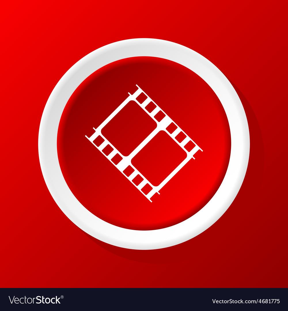 Film strip icon on red vector | Price: 1 Credit (USD $1)