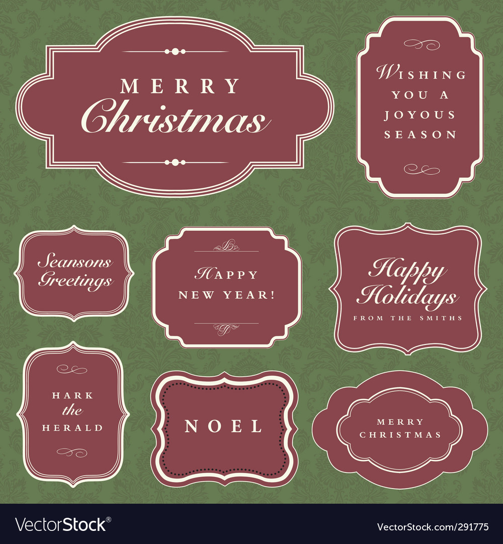 Holiday frame set vector | Price: 1 Credit (USD $1)