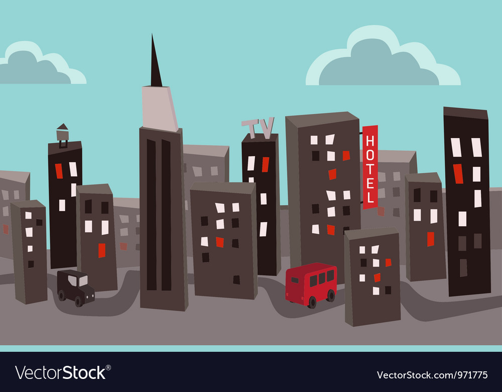 Polluted city vector | Price: 1 Credit (USD $1)
