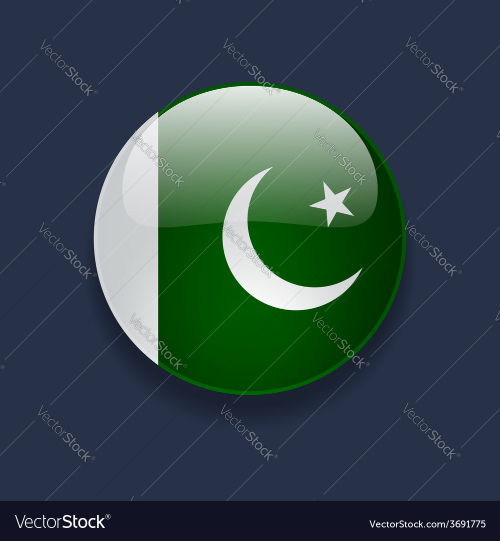 Round icon with flag of pakistan vector | Price: 1 Credit (USD $1)