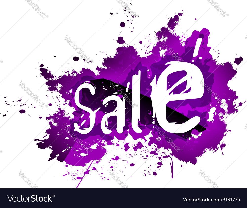 Sale grunge background vector | Price: 1 Credit (USD $1)