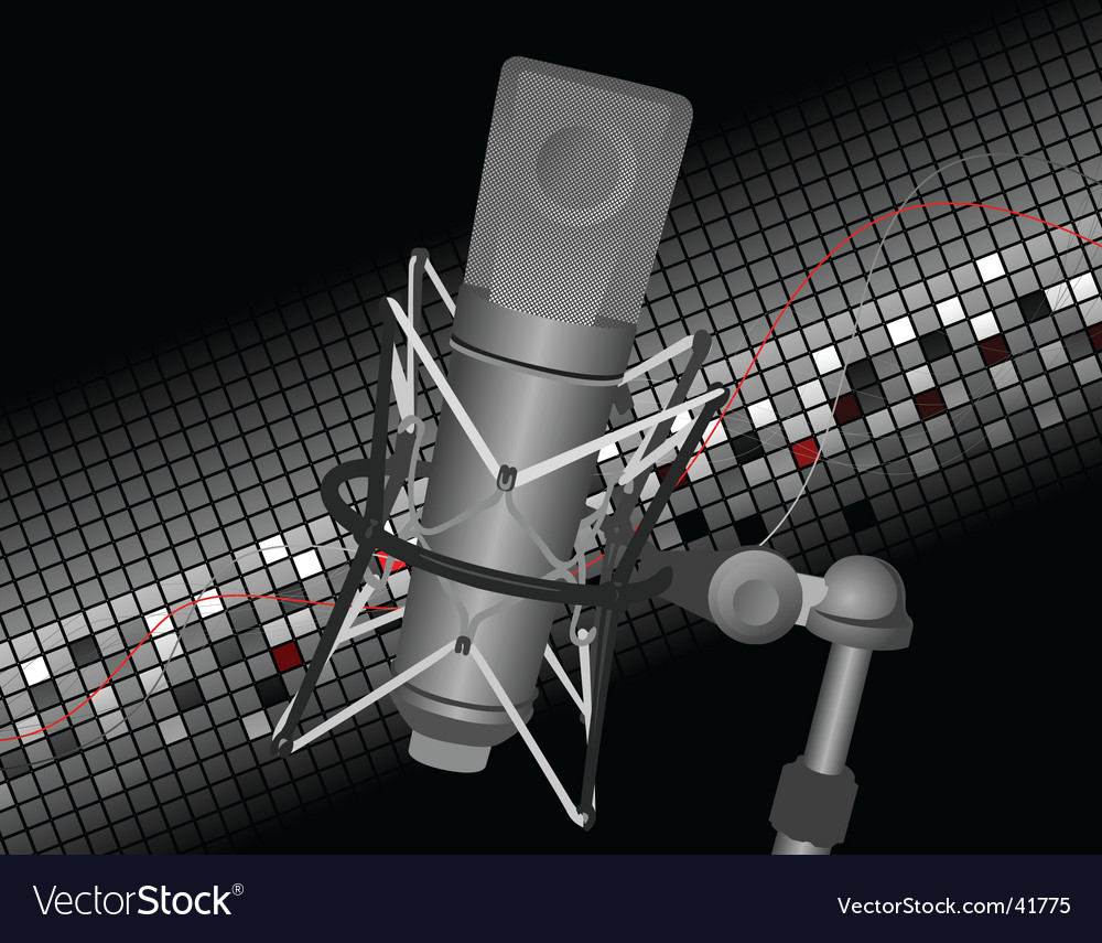 Studio mic vector | Price: 1 Credit (USD $1)