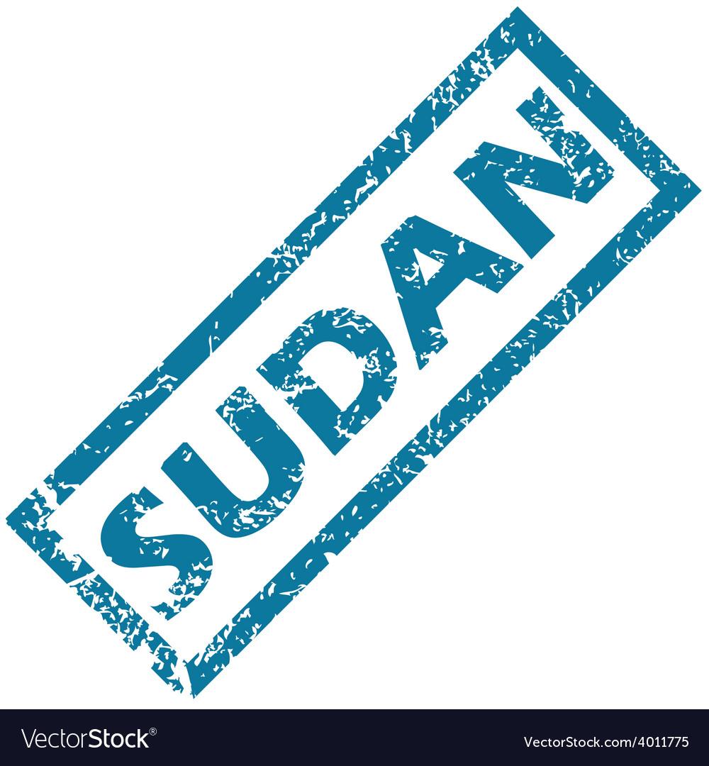 Sudan rubber stamp vector | Price: 1 Credit (USD $1)