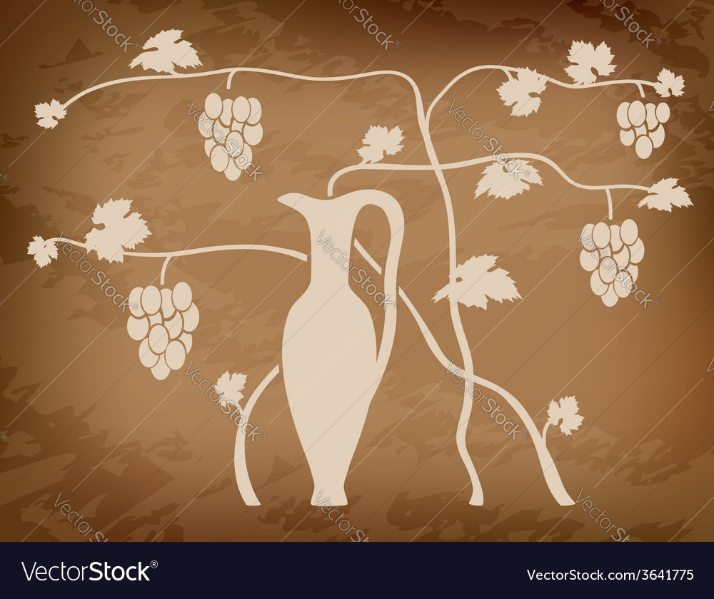 Vineyard on grungy background vector | Price: 1 Credit (USD $1)