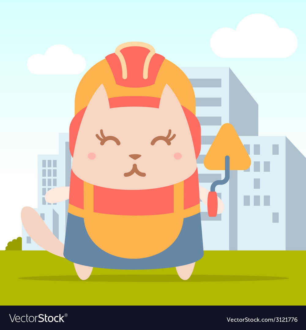 Character builder in helmet and coveralls colorful vector | Price: 1 Credit (USD $1)